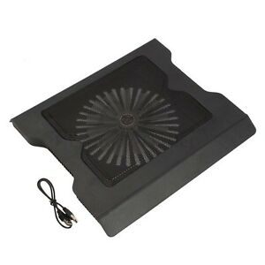 New-2-USB-Port-Cooling-Cooler-0ne-Fan-Pad-Stand-for-16-Laptop-PC-With-LED-Light