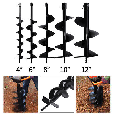 Earth Spiral Auger Drill Bit Fence Garden Post Planting Hole Digger Replacement