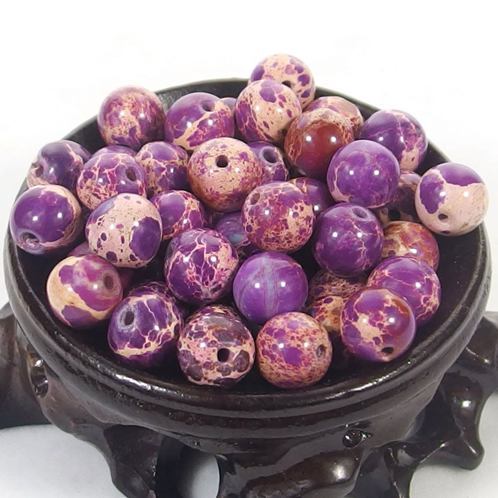Bulk Gemstones I natural spacer stone beads 4mm 6mm 8mm 10mm 12mm jewelry design purple sea sediment jasper