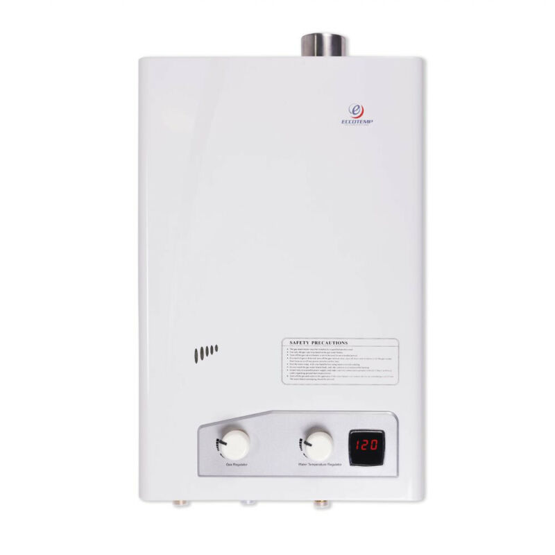 Eccotemp FVI12-LP Indoor Liquid Propane Powered Tankless Water Heater, White