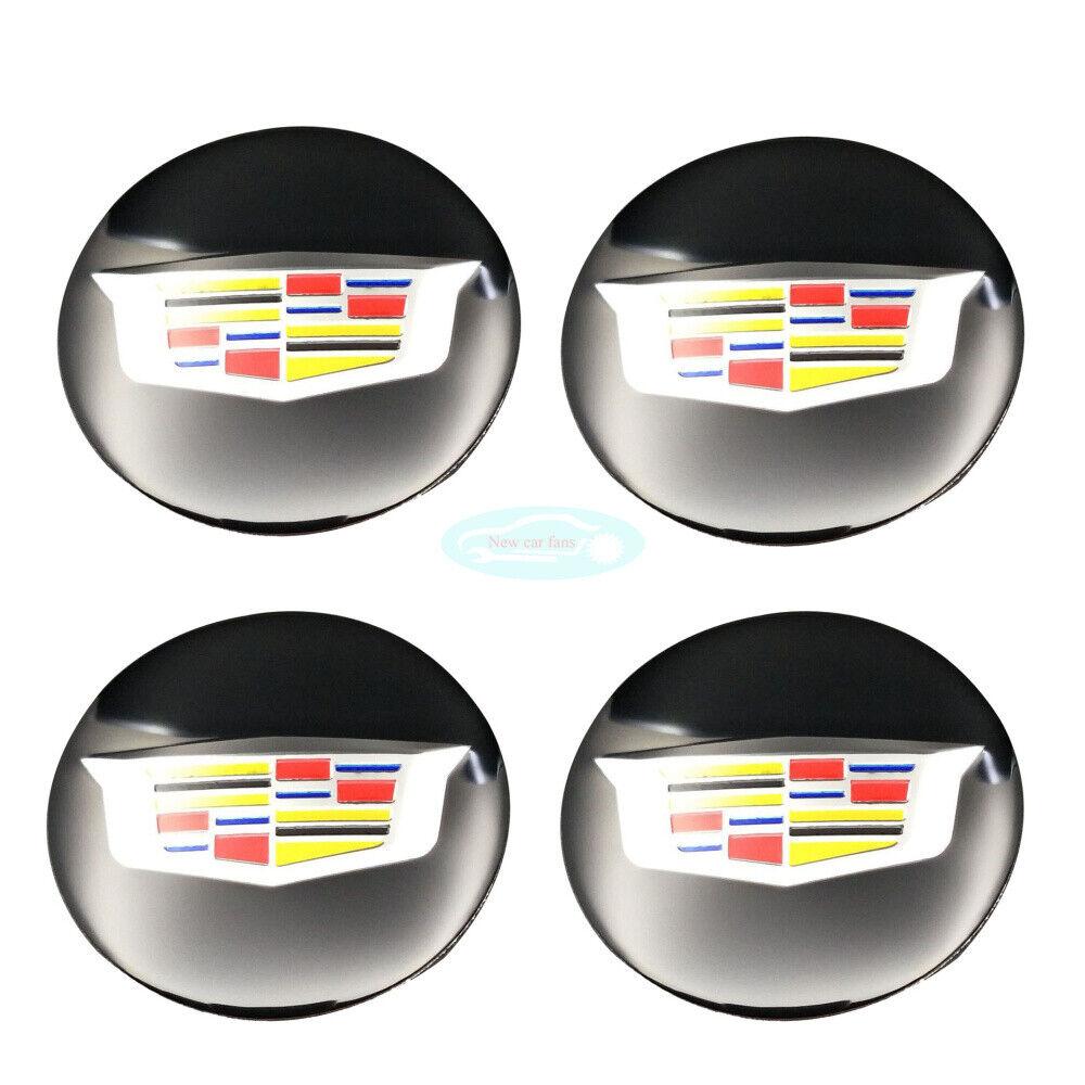4pcs 55mm Car Wheel Center Hub Caps Emblem Badge Decals Sticker For ATS  CT6 CTS