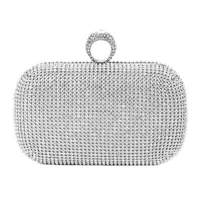 (Evening Bag Party Women Clutch Crystal Purse Wedding Rhinestone Handbag 16*10cm)