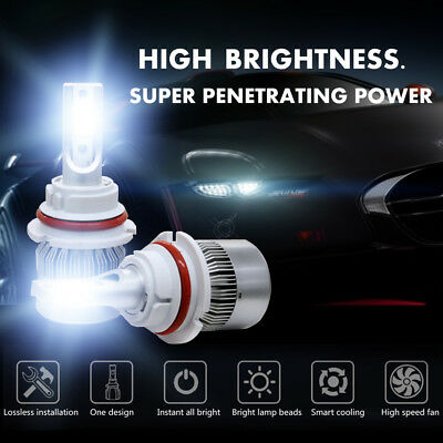 1855W 278250LM 9004 HB1 Car LED Headlight Kit Hi/Low Beam White 6000K High Power