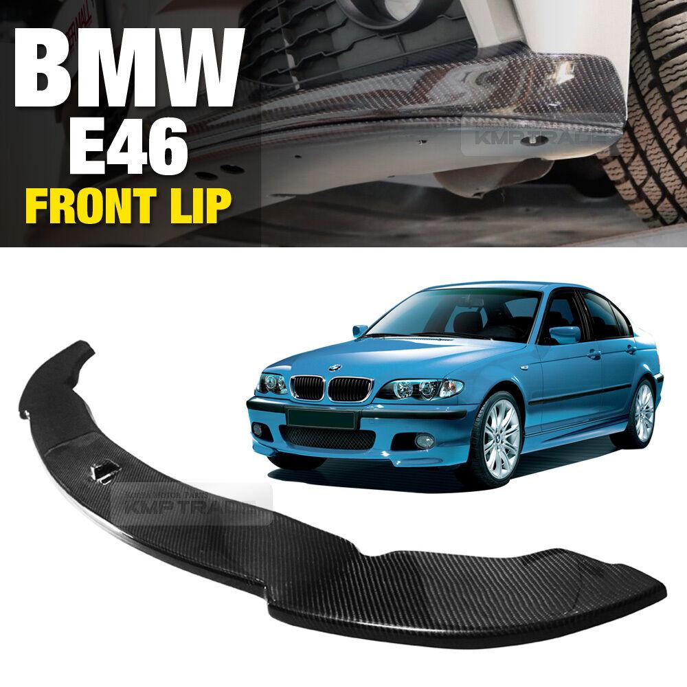 2x CSL Style Front Splitter Bumper Lip Spoiler Carbon Fiber For BMW E46 M3 99-06