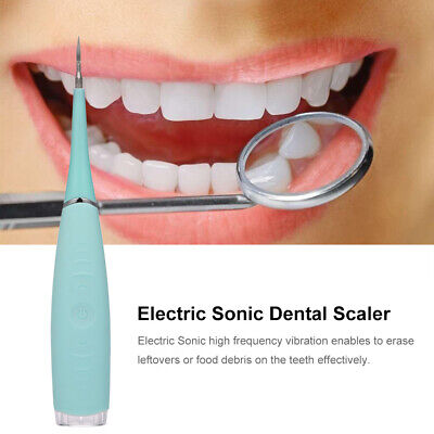 ultrasonic electric tooth cleaner cordless rechargeable calc