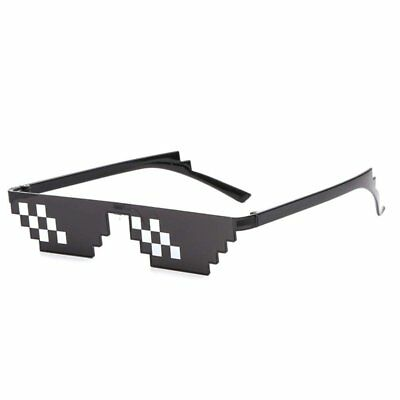 B-KIDS Thug Life Glasses 8-Bit Sunglasses for Men and Women Meme Costume - Thug Costumes