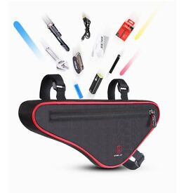 ELECYCLES New Reflective Large Capacity Waterproof Outdoor Triangle Bicycle Front Tube Frame Bag