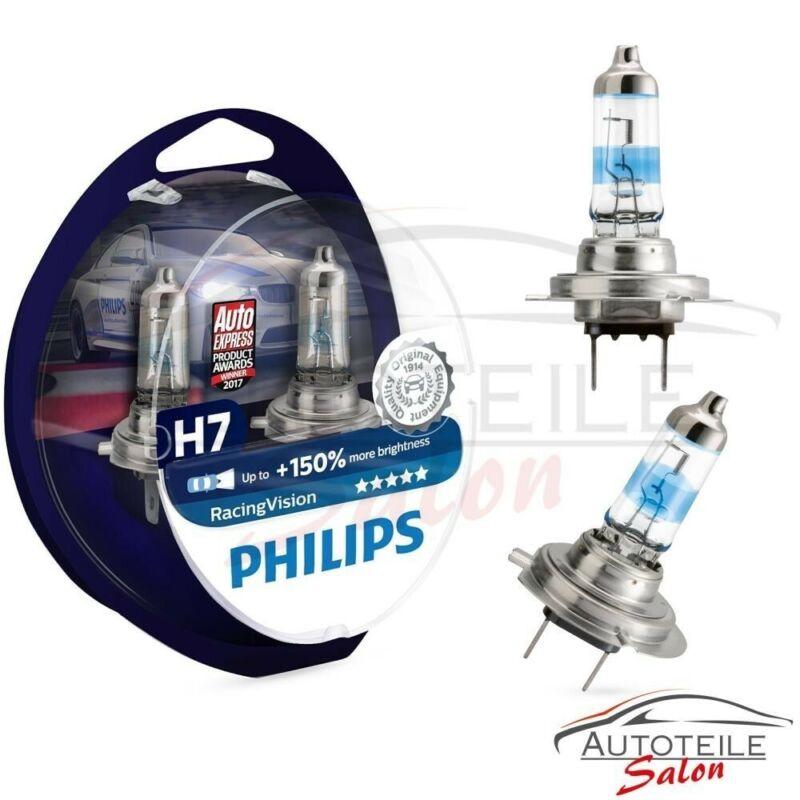 Philips RacingVision H7 bis zu 150/% mehr Licht Halogenlampe 12972RV+S2 Duo