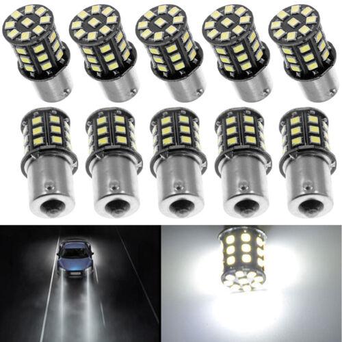 10x Super Bright 6.6w White 1156 RV Trailer 33-SMD LED 1141 Interior Light Bulbs