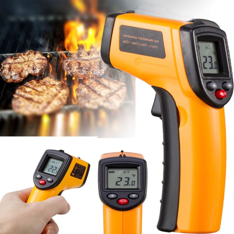 Digital Infrared Temperature Temp Gun Thermometer Non-Contact IR Laser Point Hot