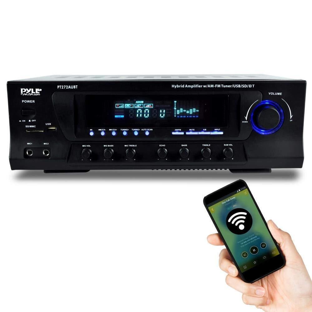 PYLE BLUETOOTH 300W HYBRID STEREO RECEIVER AMPLIFIER AM/FM U