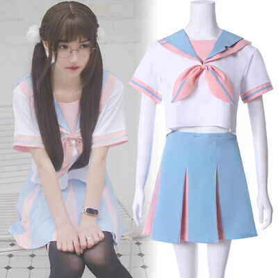 JK School Uniform Cosplay Women Girl Short Skirt Rabbit Ear Sailor Costume Dress - Girls Sailor Costume