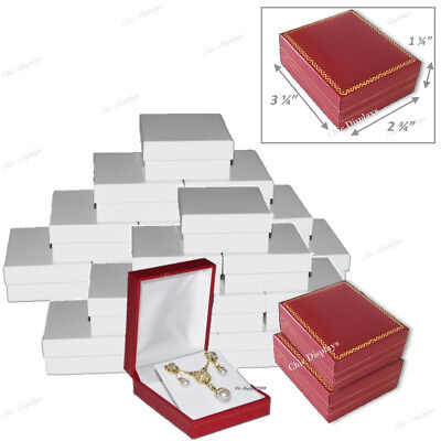 Lot Of 24 Pendant Boxes Red Gift Boxes Wholesale Jewelry Boxes Earring Boxes