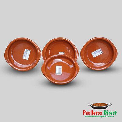 Set of 4 x 12cm Spanish Terracotta Tapas Dishes / Cazuelas
