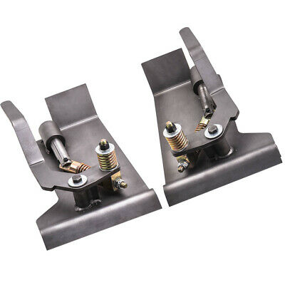 Pair Weld-on Skid Steer Quick Attach Conversion Adapter Quick Tach Latch Box