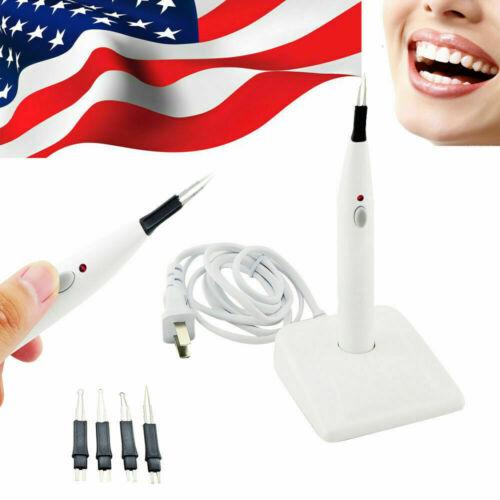 Dental Gutta Percha Points Cutter Endo Cordless Gutta Cutter w/ 4 Tips US STOCK