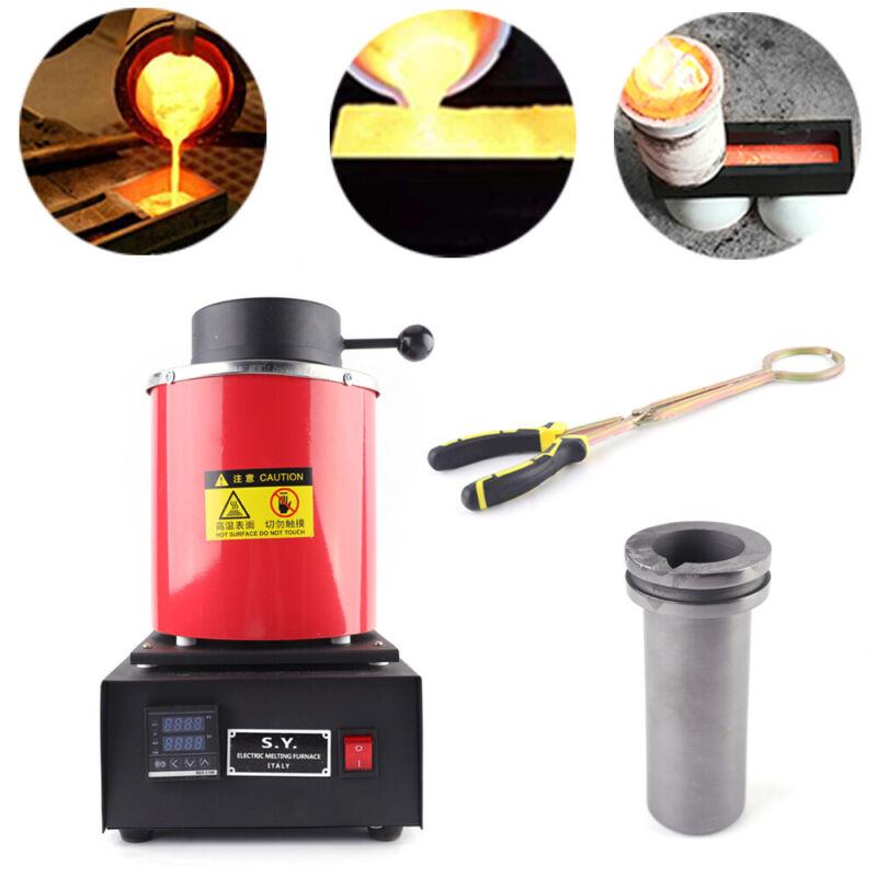 3kg Electric Kiln Digital Melting Furnace Metal Gold Silver Melter 1400W 110V