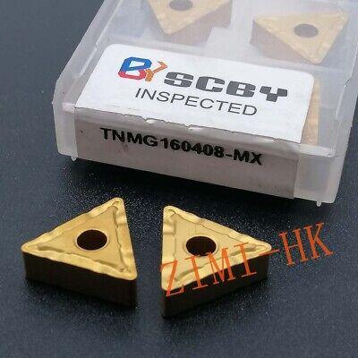 10pcs Tnmg160408-mx Threading Carbide Inserts Cutting Tool For Lathe Cnc