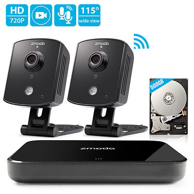 Zmodo 1080p HDMI NVR 1.0MP Audio Network WiFi Home Security Camera System 500GB