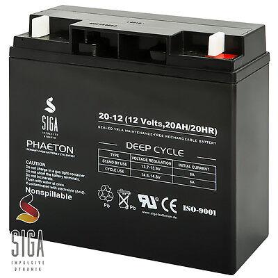 20AH 12V AKKU AGM GEL Batterie Rasenmäher, Rasentraktor Aufsitzmäher 17Ah, 18Ah ()