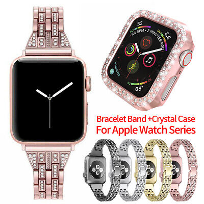 Women Bling Band Bumper Case For Apple Watch Series 5 4 3 2 38/42/40/44mm iWatch