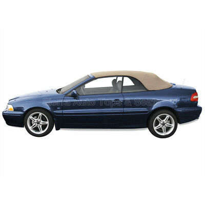 Volvo C70 Convertible Top for 1999-2006 in Beige Twillfast with Glass Window