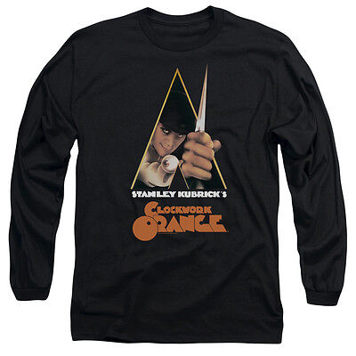 A CLOCKWORK ORANGE POSTER Licensed Men's Long Sleeve Graphic Tee Shirt SM-3XL