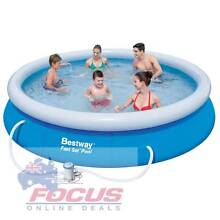 Bestway Above Ground Fast Set Swimming Pool Blue North Melbourne Melbourne City Preview