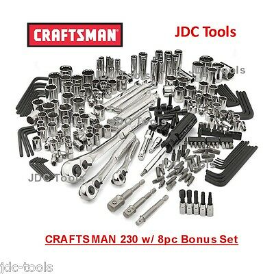 Craftsman 230 pc Tool Set with 8 pc bonus set - Tools Only     NEW  311