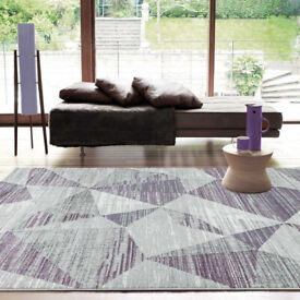 BRAND NEW ASIATIC BLOCKS HEATHER RUG FROM NEXT NEW & UNOPENED 230CM X 160CM.