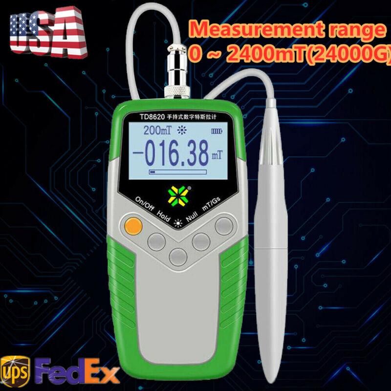 TD8620 Digital Gauss Meter,Surface Magnetic Field Tester,Flux Meter mT/Gs TOP