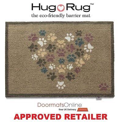 Hug Rug 85x65cm (PET 45) Paws Heart Dirt Trapper Door / Floor Mat Washable