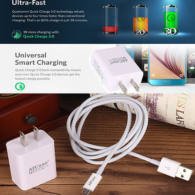 Qualcomm Certified Aicase Quick Charge 3 0 High Rapid 18W Usb Wall Charger Us