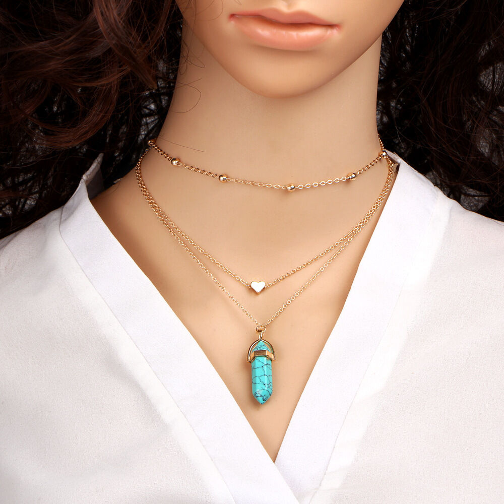 Women Choker Bib Statement Pendant Chain Collar Necklace Charm Alloy Jewelry
