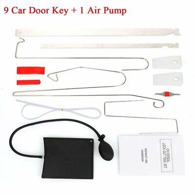 10x Car Door Open Unlock Tool Kit Key Lock Out Emergency Opening Thin Bar Wedges