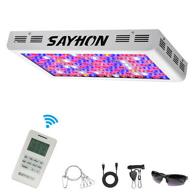 Reflector Remote Control 1200W Full Spectrum Led Grow Light Timer Lamp Veg Bloom