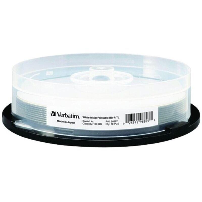 Verbatim 98915 M-Disc Bdxl 100Gb 4X White Inkjet Hub Printable 25Pk Spindle