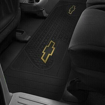 Logo Runner Mat - CHEVY TRUCK Floor Mat Rear Runner OEM LOGO Factory Emblem Rubber Liners Black