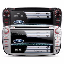 Ford Focus Mondeo S Max Galaxy Transit Connect Radio Screen Bluetooth GPS Car DVD USB SD Headunit
