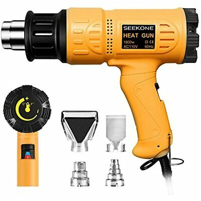 Seekone Heat Gun 1800w Heavy Duty Hot Air Kit Variable Temperature Control With