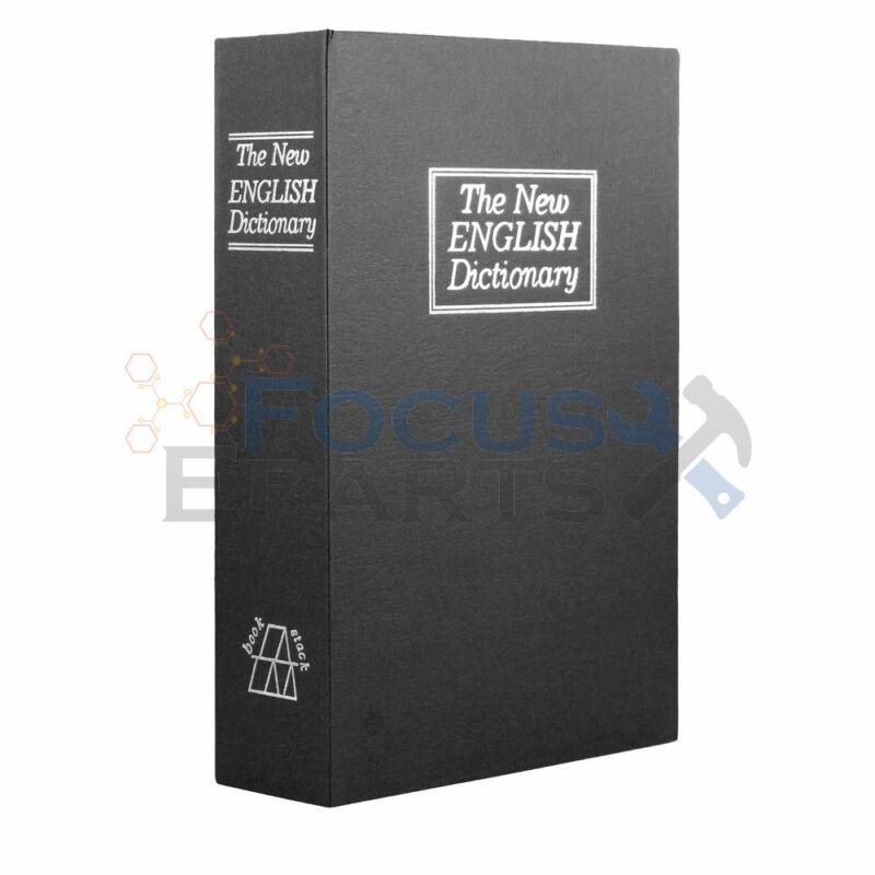 Small Dictionary Book Safe Diversion Secret Stash Booksafe Lock Key Black