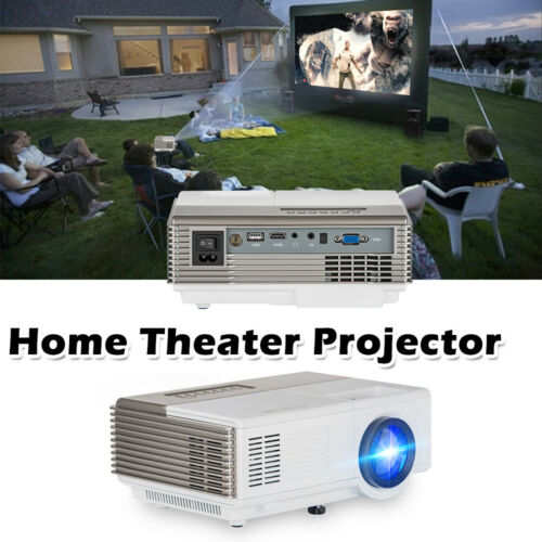 LCD LED Home Theater Projector HD 1080P Movie Multimedia Night Party HDMI USB AV