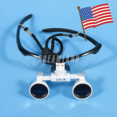 Black Dental Surgical Medical Binocular Loupes 3.5x 420mm Optical Glass Dentist