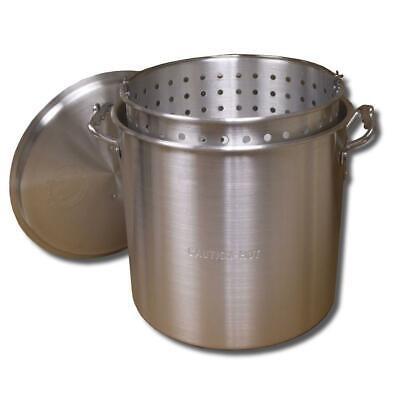 King Kooker Boiling Pot Set Punched-aluminum Basket Lid 20.25 In. Height 100 Qt.