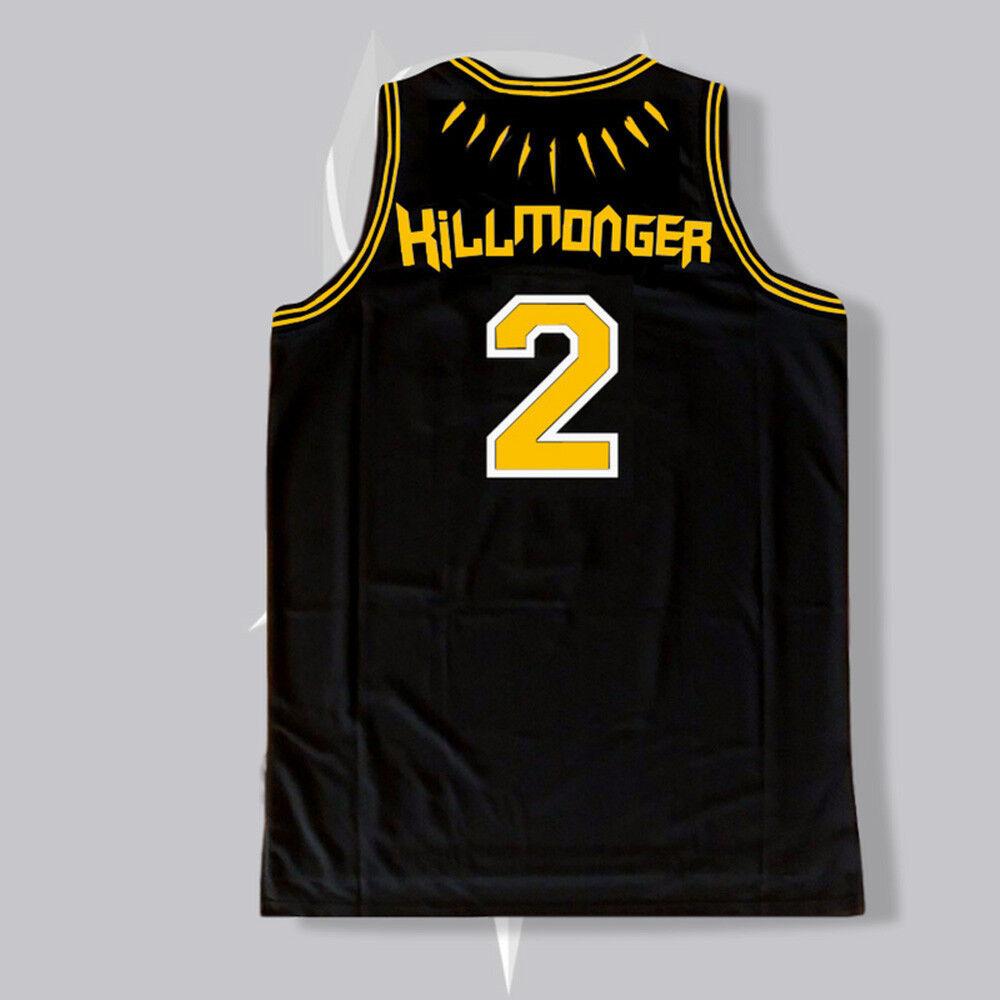 Chadwick Boseman Black Panther WAKANDA T/'Challa Killmonger Basketball Jersey