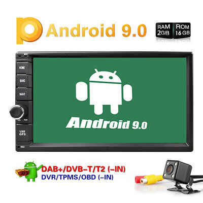 "Quad-Core Android 9.0 2GB RAM 7"" Double 2DIN Car Stereo Radio GPS Navi DAB+ OBD2"