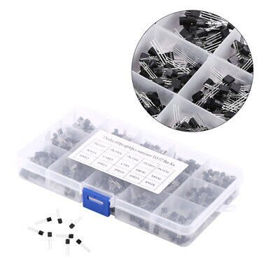 600 Pcs Diy 15 Values To-92 Three Pins Mosfet Transistor Assortment Box