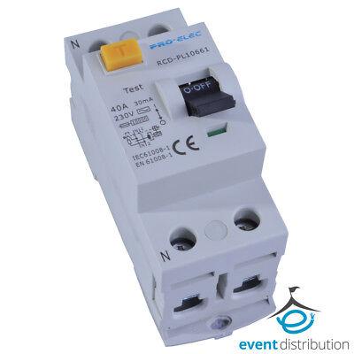 Pole 40 Amp (PRO ELEC 40 AMP RCD DOUBLE POLE DP 40A 2P AUR1-40A)