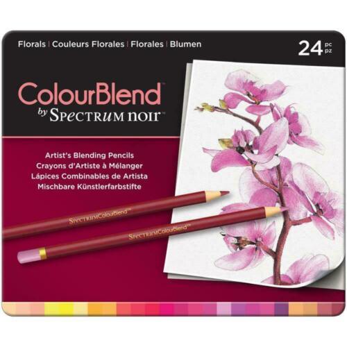 Spectrum Noir ColourBlend Premium Blendable Artists Pencils, Florals, 24 Pcs NEW