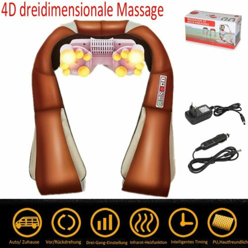 Elektrisch Shiatsu Massagegerät mit Wärmefunktion Massage SCHULTER NACKEN RÜCKEN